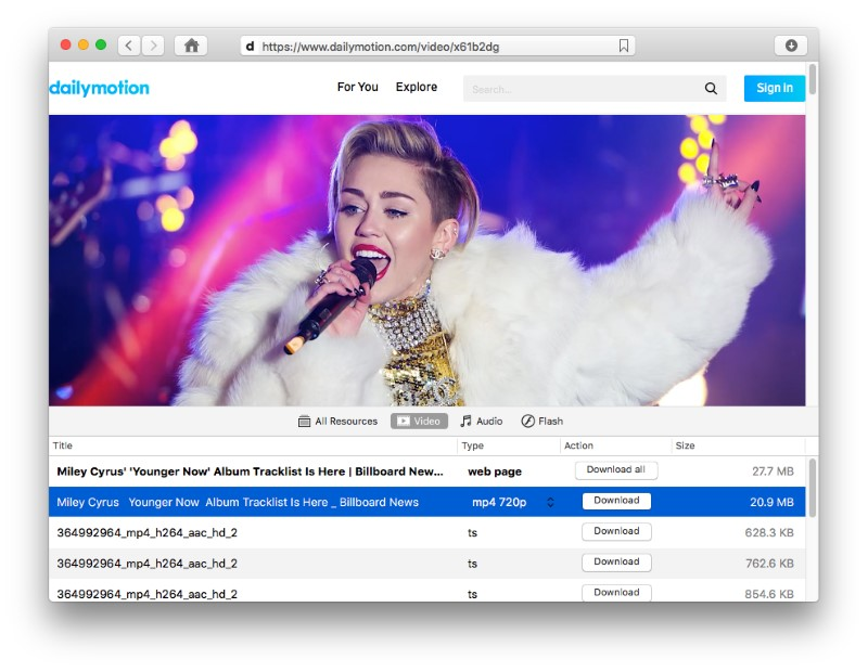 mac software to download Dailymotion video