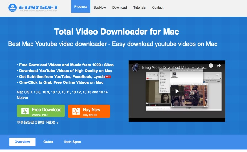 Top 9 video downloaders for Mac - List 2019 [SOLVED]