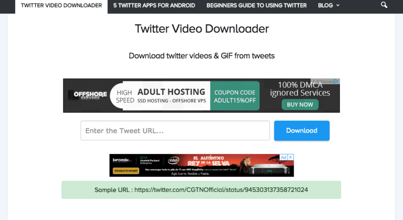 tool to download twitter videos online
